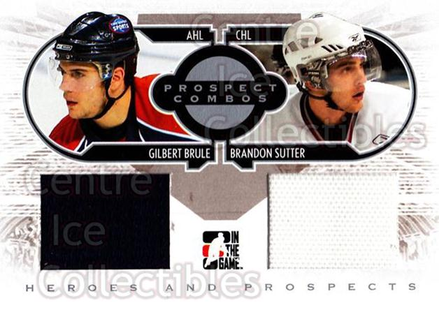 2008-09 ITG Heroes and Prospects Prospects Combos Silver #6 Gilbert Brule, Brandon Sutter<br/>3 In Stock - $5.00 each - <a href=https://centericecollectibles.foxycart.com/cart?name=2008-09%20ITG%20Heroes%20and%20Prospects%20Prospects%20Combos%20Silver%20%236%20Gilbert%20Brule,%20...&price=$5.00&code=485131 class=foxycart> Buy it now! </a>