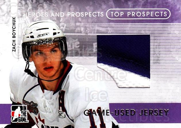 2008-09 ITG Heroes and Prospects Top Prospects Jersey Gold #19 Zach Boychuk<br/>1 In Stock - $20.00 each - <a href=https://centericecollectibles.foxycart.com/cart?name=2008-09%20ITG%20Heroes%20and%20Prospects%20Top%20Prospects%20Jersey%20Gold%20%2319%20Zach%20Boychuk...&quantity_max=1&price=$20.00&code=485154 class=foxycart> Buy it now! </a>