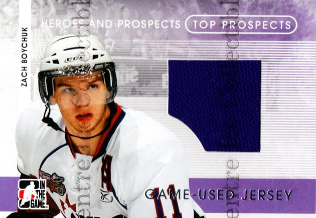 2008-09 ITG Heroes and Prospects Top Prospects Jersey Silver #19 Zach Boychuk<br/>1 In Stock - $5.00 each - <a href=https://centericecollectibles.foxycart.com/cart?name=2008-09%20ITG%20Heroes%20and%20Prospects%20Top%20Prospects%20Jersey%20Silver%20%2319%20Zach%20Boychuk...&quantity_max=1&price=$5.00&code=485213 class=foxycart> Buy it now! </a>