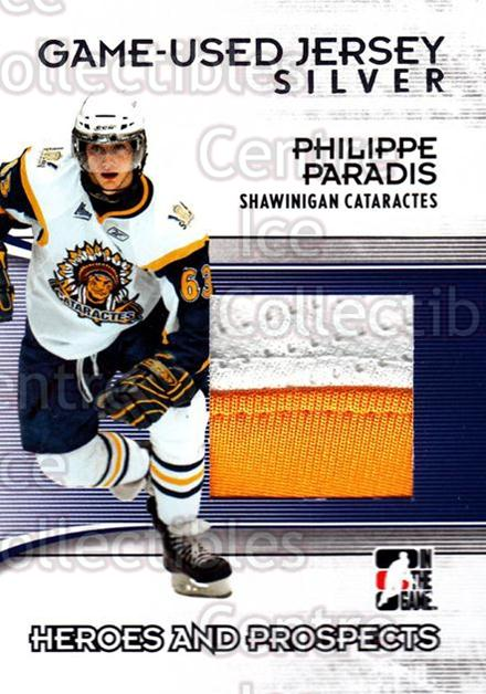 2009-10 ITG Heroes and Prospects Jersey Silver #15 Phillippe Paradis<br/>1 In Stock - $10.00 each - <a href=https://centericecollectibles.foxycart.com/cart?name=2009-10%20ITG%20Heroes%20and%20Prospects%20Jersey%20Silver%20%2315%20Phillippe%20Parad...&price=$10.00&code=485388 class=foxycart> Buy it now! </a>