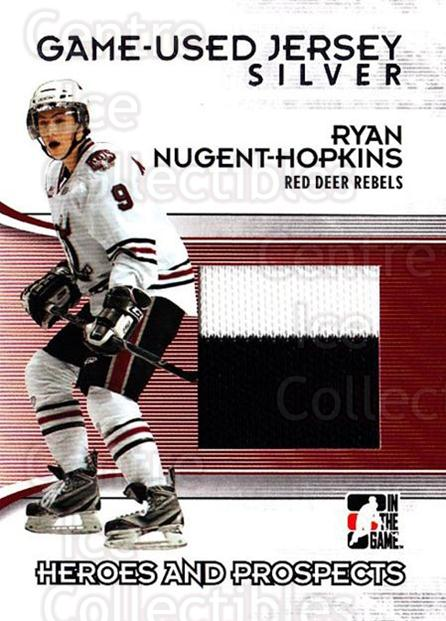 2009-10 ITG Heroes and Prospects Jersey Silver #50 Ryan Nugent-Hopkins<br/>1 In Stock - $10.00 each - <a href=https://centericecollectibles.foxycart.com/cart?name=2009-10%20ITG%20Heroes%20and%20Prospects%20Jersey%20Silver%20%2350%20Ryan%20Nugent-Hop...&price=$10.00&code=485423 class=foxycart> Buy it now! </a>