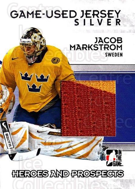 2009-10 ITG Heroes and Prospects Jersey Silver #52 Jacob Markstrom<br/>1 In Stock - $10.00 each - <a href=https://centericecollectibles.foxycart.com/cart?name=2009-10%20ITG%20Heroes%20and%20Prospects%20Jersey%20Silver%20%2352%20Jacob%20Markstrom...&price=$10.00&code=485425 class=foxycart> Buy it now! </a>
