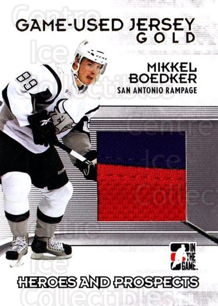 2009-10 ITG Heroes and Prospects Jersey Gold #47 Mikkel Boedker<br/>1 In Stock - $20.00 each - <a href=https://centericecollectibles.foxycart.com/cart?name=2009-10%20ITG%20Heroes%20and%20Prospects%20Jersey%20Gold%20%2347%20Mikkel%20Boedker...&quantity_max=1&price=$20.00&code=485473 class=foxycart> Buy it now! </a>