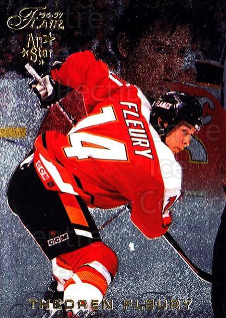 1996-97 Flair #11 Theo Fleury<br/>5 In Stock - $1.00 each - <a href=https://centericecollectibles.foxycart.com/cart?name=1996-97%20Flair%20%2311%20Theo%20Fleury...&quantity_max=5&price=$1.00&code=48558 class=foxycart> Buy it now! </a>