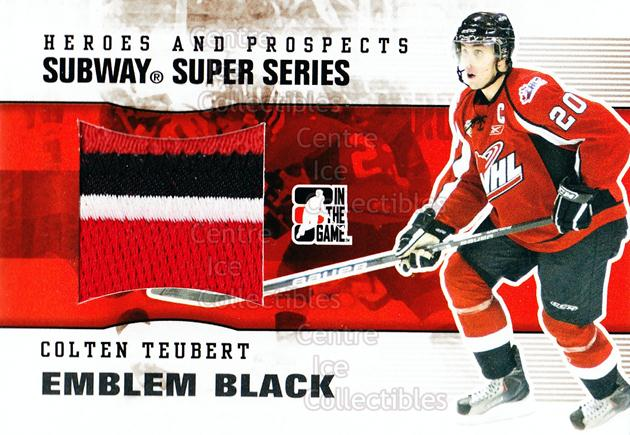 2009-10 ITG Heroes and Prospects Subway Emblem Black #21 Colten Teubert<br/>1 In Stock - $20.00 each - <a href=https://centericecollectibles.foxycart.com/cart?name=2009-10%20ITG%20Heroes%20and%20Prospects%20Subway%20Emblem%20Black%20%2321%20Colten%20Teubert...&quantity_max=1&price=$20.00&code=485647 class=foxycart> Buy it now! </a>