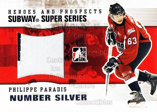2009-10 ITG Heroes and Prospects Subway Number Silver #12 Philippe Paradis<br/>1 In Stock - $20.00 each - <a href=https://centericecollectibles.foxycart.com/cart?name=2009-10%20ITG%20Heroes%20and%20Prospects%20Subway%20Number%20Silver%20%2312%20Philippe%20Paradi...&price=$20.00&code=485737 class=foxycart> Buy it now! </a>