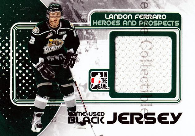 2010-11 ITG Heroes and Prospects Jersey Black #27 Landon Ferraro<br/>2 In Stock - $5.00 each - <a href=https://centericecollectibles.foxycart.com/cart?name=2010-11%20ITG%20Heroes%20and%20Prospects%20Jersey%20Black%20%2327%20Landon%20Ferraro...&price=$5.00&code=485867 class=foxycart> Buy it now! </a>