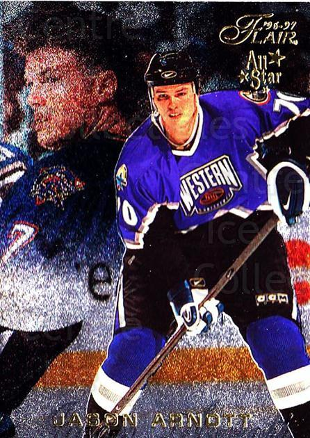 1996-97 Flair #32 Jason Arnott<br/>6 In Stock - $1.00 each - <a href=https://centericecollectibles.foxycart.com/cart?name=1996-97%20Flair%20%2332%20Jason%20Arnott...&quantity_max=6&price=$1.00&code=48586 class=foxycart> Buy it now! </a>