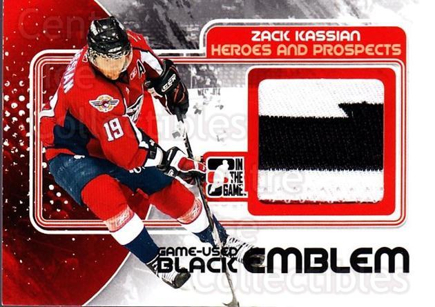 2010-11 ITG Heroes and Prospects Jersey Emblem Black #54 Zack Kassian<br/>1 In Stock - $20.00 each - <a href=https://centericecollectibles.foxycart.com/cart?name=2010-11%20ITG%20Heroes%20and%20Prospects%20Jersey%20Emblem%20Black%20%2354%20Zack%20Kassian...&quantity_max=1&price=$20.00&code=486086 class=foxycart> Buy it now! </a>
