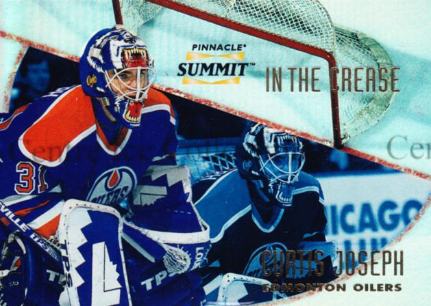 1996-97 Summit In The Crease Premium Stock #5 Curtis Joseph<br/>3 In Stock - $5.00 each - <a href=https://centericecollectibles.foxycart.com/cart?name=1996-97%20Summit%20In%20The%20Crease%20Premium%20Stock%20%235%20Curtis%20Joseph...&quantity_max=3&price=$5.00&code=486739 class=foxycart> Buy it now! </a>