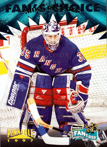 1996-97 Pinnacle Fantasy #10 Mike Richter<br/>13 In Stock - $2.00 each - <a href=https://centericecollectibles.foxycart.com/cart?name=1996-97%20Pinnacle%20Fantasy%20%2310%20Mike%20Richter...&quantity_max=13&price=$2.00&code=487104 class=foxycart> Buy it now! </a>
