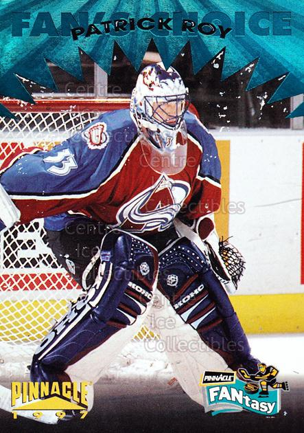 1996-97 Pinnacle Fantasy #19 Patrick Roy<br/>1 In Stock - $5.00 each - <a href=https://centericecollectibles.foxycart.com/cart?name=1996-97%20Pinnacle%20Fantasy%20%2319%20Patrick%20Roy...&quantity_max=1&price=$5.00&code=487109 class=foxycart> Buy it now! </a>