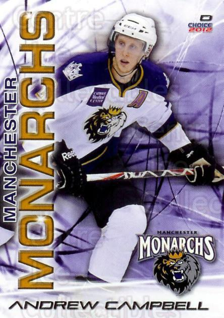 2011-12 Manchester Monarchs #2 Andrew Campbell<br/>1 In Stock - $3.00 each - <a href=https://centericecollectibles.foxycart.com/cart?name=2011-12%20Manchester%20Monarchs%20%232%20Andrew%20Campbell...&quantity_max=1&price=$3.00&code=487141 class=foxycart> Buy it now! </a>