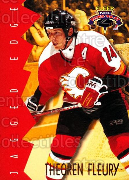 1996-97 Fleer Picks Jagged Edge #2 Theo Fleury<br/>3 In Stock - $2.00 each - <a href=https://centericecollectibles.foxycart.com/cart?name=1996-97%20Fleer%20Picks%20Jagged%20Edge%20%232%20Theo%20Fleury...&quantity_max=3&price=$2.00&code=48716 class=foxycart> Buy it now! </a>