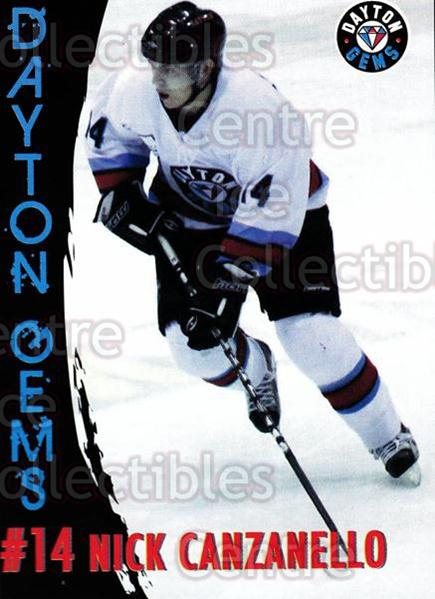 2010-11 Dayton Gems #4 Nick Canzanello<br/>4 In Stock - $3.00 each - <a href=https://centericecollectibles.foxycart.com/cart?name=2010-11%20Dayton%20Gems%20%234%20Nick%20Canzanello...&quantity_max=4&price=$3.00&code=487366 class=foxycart> Buy it now! </a>