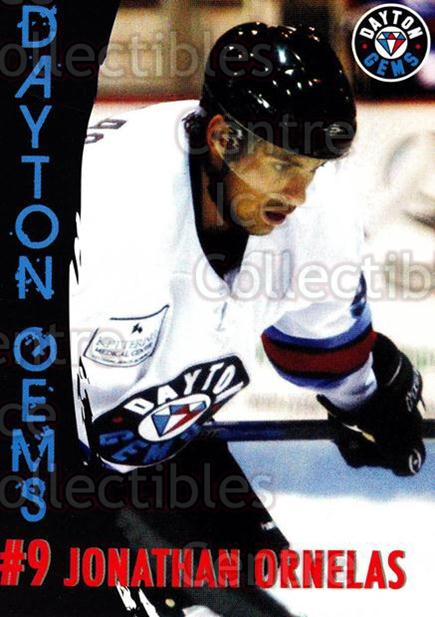 2010-11 Dayton Gems #19 Jonathan Ornelas<br/>4 In Stock - $3.00 each - <a href=https://centericecollectibles.foxycart.com/cart?name=2010-11%20Dayton%20Gems%20%2319%20Jonathan%20Ornela...&quantity_max=4&price=$3.00&code=487381 class=foxycart> Buy it now! </a>