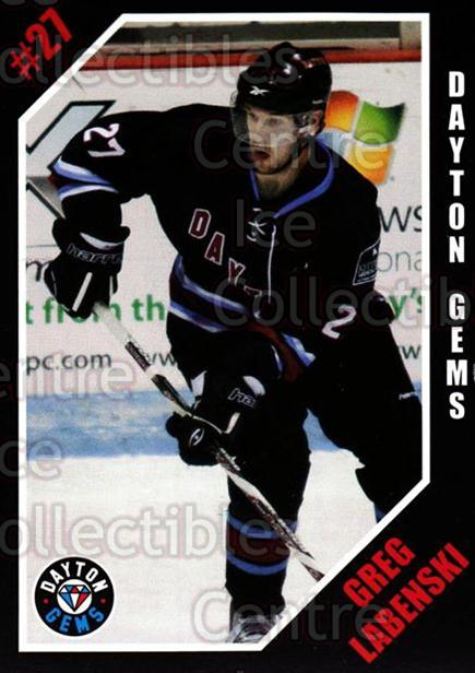2011-12 Dayton Gems #11 Greg Labenski<br/>2 In Stock - $3.00 each - <a href=https://centericecollectibles.foxycart.com/cart?name=2011-12%20Dayton%20Gems%20%2311%20Greg%20Labenski...&quantity_max=2&price=$3.00&code=487398 class=foxycart> Buy it now! </a>