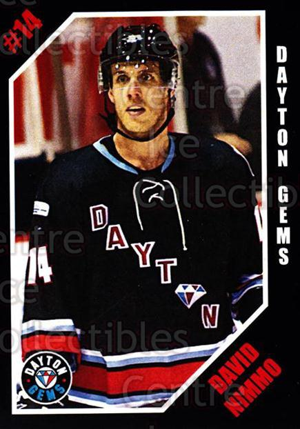 2011-12 Dayton Gems #17 David Nimmo<br/>2 In Stock - $3.00 each - <a href=https://centericecollectibles.foxycart.com/cart?name=2011-12%20Dayton%20Gems%20%2317%20David%20Nimmo...&quantity_max=2&price=$3.00&code=487404 class=foxycart> Buy it now! </a>