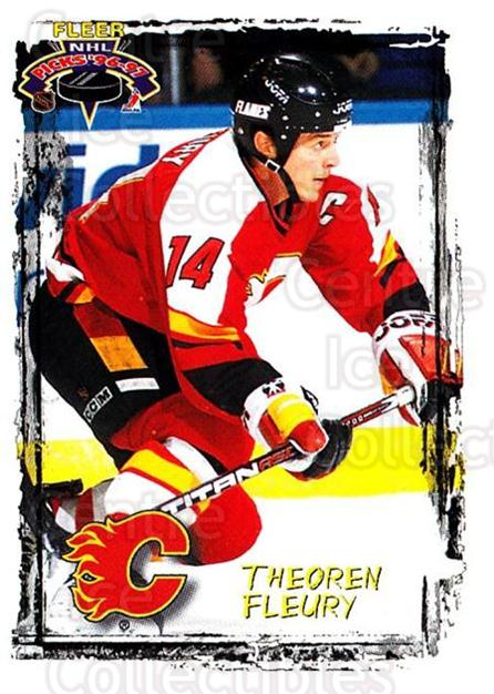 1996-97 Fleer Picks #24 Theo Fleury<br/>3 In Stock - $1.00 each - <a href=https://centericecollectibles.foxycart.com/cart?name=1996-97%20Fleer%20Picks%20%2324%20Theo%20Fleury...&quantity_max=3&price=$1.00&code=48771 class=foxycart> Buy it now! </a>