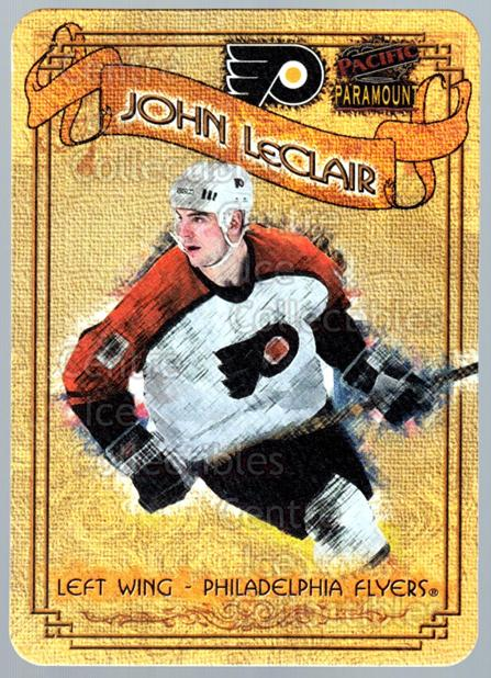 1997-98 Paramount Photoengravings #14 John LeClair<br/>5 In Stock - $3.00 each - <a href=https://centericecollectibles.foxycart.com/cart?name=1997-98%20Paramount%20Photoengravings%20%2314%20John%20LeClair...&quantity_max=5&price=$3.00&code=487892 class=foxycart> Buy it now! </a>
