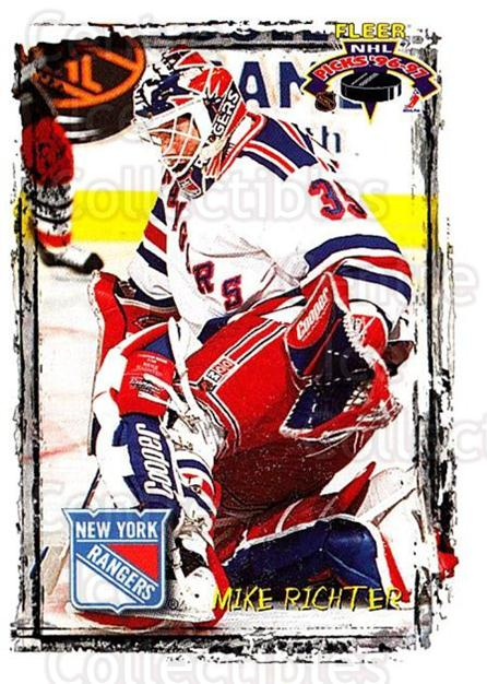 1996-97 Fleer Picks #84 Mike Richter<br/>4 In Stock - $1.00 each - <a href=https://centericecollectibles.foxycart.com/cart?name=1996-97%20Fleer%20Picks%20%2384%20Mike%20Richter...&quantity_max=4&price=$1.00&code=48804 class=foxycart> Buy it now! </a>