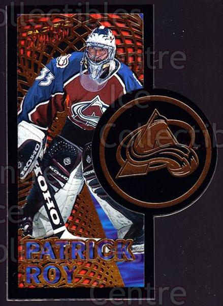 1997-98 Dynagon Dynamic Duos #06A Patrick Roy<br/>1 In Stock - $10.00 each - <a href=https://centericecollectibles.foxycart.com/cart?name=1997-98%20Dynagon%20Dynamic%20Duos%20%2306A%20Patrick%20Roy...&quantity_max=1&price=$10.00&code=488155 class=foxycart> Buy it now! </a>