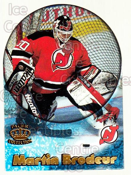 1997-98 Pacific Supials Mini #10 Martin Brodeur<br/>3 In Stock - $5.00 each - <a href=https://centericecollectibles.foxycart.com/cart?name=1997-98%20Pacific%20Supials%20Mini%20%2310%20Martin%20Brodeur...&price=$5.00&code=488292 class=foxycart> Buy it now! </a>