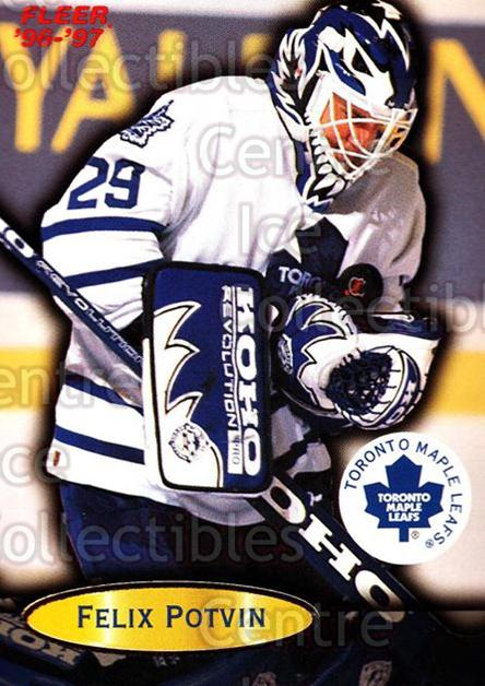 1996-97 Fleer #109 Felix Potvin<br/>4 In Stock - $1.00 each - <a href=https://centericecollectibles.foxycart.com/cart?name=1996-97%20Fleer%20%23109%20Felix%20Potvin...&quantity_max=4&price=$1.00&code=48832 class=foxycart> Buy it now! </a>