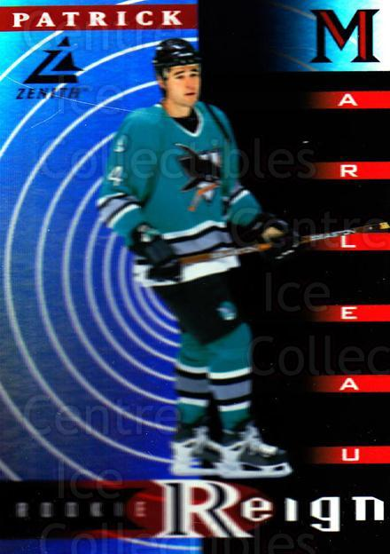 1997-98 Zenith Rookie Reign #10 Patrick Marleau<br/>1 In Stock - $5.00 each - <a href=https://centericecollectibles.foxycart.com/cart?name=1997-98%20Zenith%20Rookie%20Reign%20%2310%20Patrick%20Marleau...&quantity_max=1&price=$5.00&code=488427 class=foxycart> Buy it now! </a>