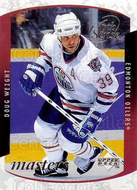1997-98 Upper Deck Sixth Sense Masters #10 Doug Weight<br/>1 In Stock - $5.00 each - <a href=https://centericecollectibles.foxycart.com/cart?name=1997-98%20Upper%20Deck%20Sixth%20Sense%20Masters%20%2310%20Doug%20Weight...&quantity_max=1&price=$5.00&code=488954 class=foxycart> Buy it now! </a>