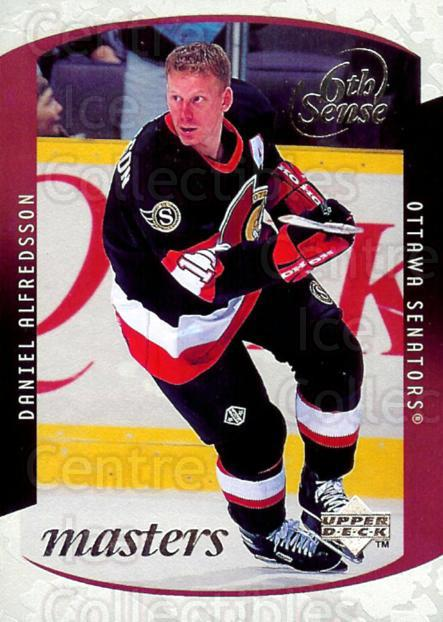 1997-98 Upper Deck Sixth Sense Masters #27 Daniel Alfredsson<br/>4 In Stock - $5.00 each - <a href=https://centericecollectibles.foxycart.com/cart?name=1997-98%20Upper%20Deck%20Sixth%20Sense%20Masters%20%2327%20Daniel%20Alfredss...&quantity_max=4&price=$5.00&code=488971 class=foxycart> Buy it now! </a>