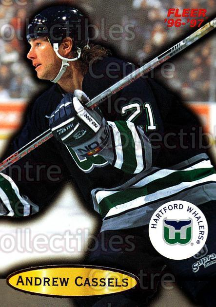 1996-97 Fleer #46 Andrew Cassels<br/>5 In Stock - $1.00 each - <a href=https://centericecollectibles.foxycart.com/cart?name=1996-97%20Fleer%20%2346%20Andrew%20Cassels...&quantity_max=5&price=$1.00&code=48905 class=foxycart> Buy it now! </a>