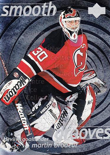1997-98 Upper Deck Smooth Grooves #4 Martin Brodeur<br/>1 In Stock - $5.00 each - <a href=https://centericecollectibles.foxycart.com/cart?name=1997-98%20Upper%20Deck%20Smooth%20Grooves%20%234%20Martin%20Brodeur...&quantity_max=1&price=$5.00&code=489067 class=foxycart> Buy it now! </a>