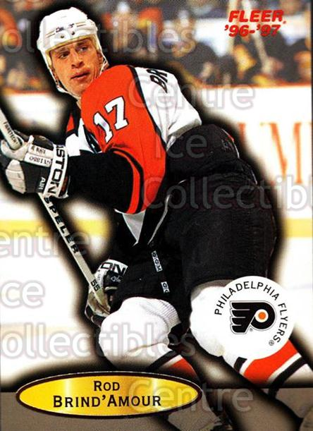 1996-97 Fleer #78 Rod Brind'Amour<br/>5 In Stock - $1.00 each - <a href=https://centericecollectibles.foxycart.com/cart?name=1996-97%20Fleer%20%2378%20Rod%20Brind'Amour...&quantity_max=5&price=$1.00&code=48938 class=foxycart> Buy it now! </a>