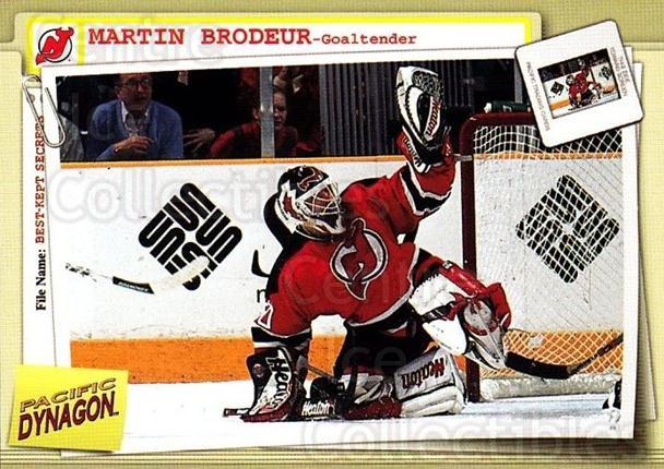 1997-98 Dynagon Best Kept Secrets #52 Martin Brodeur<br/>2 In Stock - $5.00 each - <a href=https://centericecollectibles.foxycart.com/cart?name=1997-98%20Dynagon%20Best%20Kept%20Secrets%20%2352%20Martin%20Brodeur...&quantity_max=2&price=$5.00&code=489484 class=foxycart> Buy it now! </a>