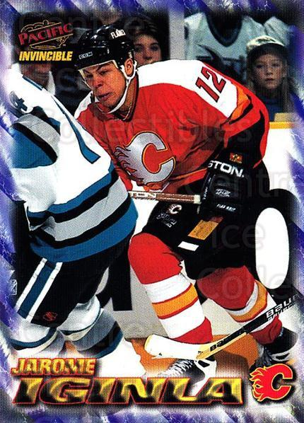 1997-98 Pacific Invincible NHL Regime #29 Jarome Iginla<br/>2 In Stock - $2.00 each - <a href=https://centericecollectibles.foxycart.com/cart?name=1997-98%20Pacific%20Invincible%20NHL%20Regime%20%2329%20Jarome%20Iginla...&quantity_max=2&price=$2.00&code=489499 class=foxycart> Buy it now! </a>