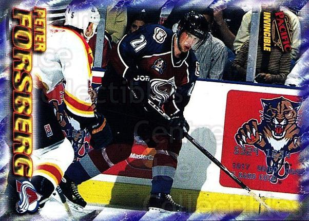 1997-98 Pacific Invincible NHL Regime #51 Peter Forsberg<br/>1 In Stock - $3.00 each - <a href=https://centericecollectibles.foxycart.com/cart?name=1997-98%20Pacific%20Invincible%20NHL%20Regime%20%2351%20Peter%20Forsberg...&quantity_max=1&price=$3.00&code=489501 class=foxycart> Buy it now! </a>