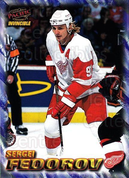 1997-98 Pacific Invincible NHL Regime #69 Sergei Fedorov<br/>2 In Stock - $2.00 each - <a href=https://centericecollectibles.foxycart.com/cart?name=1997-98%20Pacific%20Invincible%20NHL%20Regime%20%2369%20Sergei%20Fedorov...&quantity_max=2&price=$2.00&code=489505 class=foxycart> Buy it now! </a>
