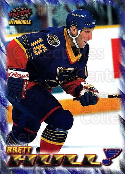 1997-98 Pacific Invincible NHL Regime #169 Brett Hull<br/>2 In Stock - $2.00 each - <a href=https://centericecollectibles.foxycart.com/cart?name=1997-98%20Pacific%20Invincible%20NHL%20Regime%20%23169%20Brett%20Hull...&quantity_max=2&price=$2.00&code=489518 class=foxycart> Buy it now! </a>
