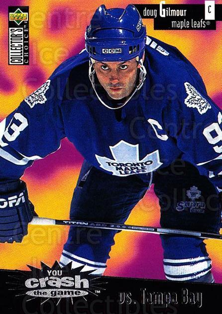 1996-97 Collectors Choice Crash the Game #02C Doug Gilmour<br/>1 In Stock - $2.00 each - <a href=https://centericecollectibles.foxycart.com/cart?name=1996-97%20Collectors%20Choice%20Crash%20the%20Game%20%2302C%20Doug%20Gilmour...&quantity_max=1&price=$2.00&code=489529 class=foxycart> Buy it now! </a>
