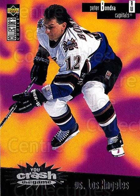 1996-97 Collectors Choice Crash the Game #04C Peter Bondra<br/>1 In Stock - $2.00 each - <a href=https://centericecollectibles.foxycart.com/cart?name=1996-97%20Collectors%20Choice%20Crash%20the%20Game%20%2304C%20Peter%20Bondra...&quantity_max=1&price=$2.00&code=489531 class=foxycart> Buy it now! </a>