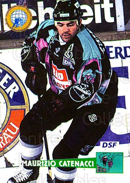 1996-97 German DEL #100 Maurizio Catenacci<br/>9 In Stock - $2.00 each - <a href=https://centericecollectibles.foxycart.com/cart?name=1996-97%20German%20DEL%20%23100%20Maurizio%20Catena...&price=$2.00&code=48956 class=foxycart> Buy it now! </a>