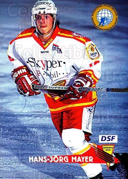 1996-97 German DEL #123 Hans-Jorg Mayer<br/>8 In Stock - $2.00 each - <a href=https://centericecollectibles.foxycart.com/cart?name=1996-97%20German%20DEL%20%23123%20Hans-Jorg%20Mayer...&quantity_max=8&price=$2.00&code=48980 class=foxycart> Buy it now! </a>