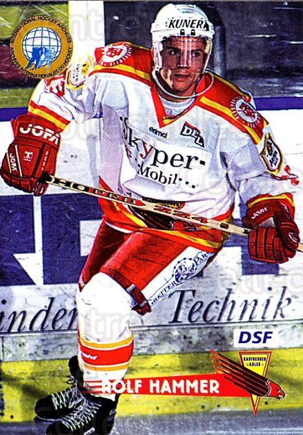 1996-97 German DEL #128 Rolf Hammer<br/>8 In Stock - $2.00 each - <a href=https://centericecollectibles.foxycart.com/cart?name=1996-97%20German%20DEL%20%23128%20Rolf%20Hammer...&quantity_max=8&price=$2.00&code=48985 class=foxycart> Buy it now! </a>