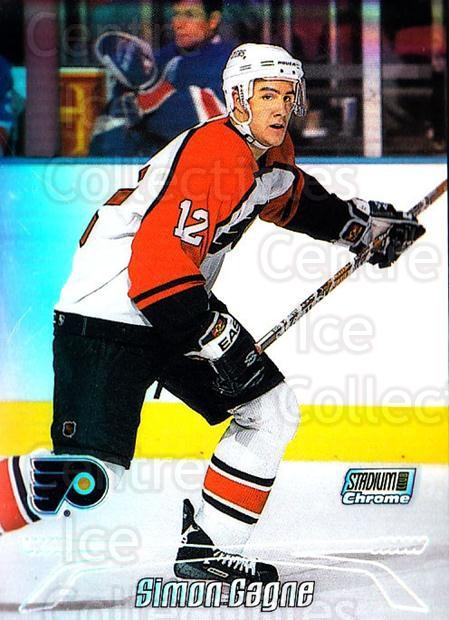 1999-00 Stadium Club Chrome Refractors #44 Simon Gagne<br/>1 In Stock - $5.00 each - <a href=https://centericecollectibles.foxycart.com/cart?name=1999-00%20Stadium%20Club%20Chrome%20Refractors%20%2344%20Simon%20Gagne...&quantity_max=1&price=$5.00&code=490464 class=foxycart> Buy it now! </a>