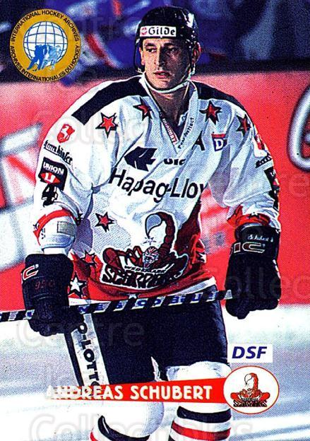 1996-97 German DEL #206 Andreas Schubert<br/>8 In Stock - $2.00 each - <a href=https://centericecollectibles.foxycart.com/cart?name=1996-97%20German%20DEL%20%23206%20Andreas%20Schuber...&price=$2.00&code=49059 class=foxycart> Buy it now! </a>