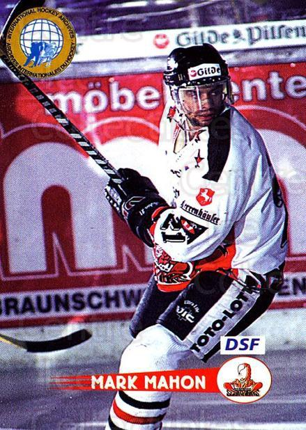 1996-97 German DEL #219 Mark Mahon<br/>5 In Stock - $2.00 each - <a href=https://centericecollectibles.foxycart.com/cart?name=1996-97%20German%20DEL%20%23219%20Mark%20Mahon...&price=$2.00&code=49072 class=foxycart> Buy it now! </a>