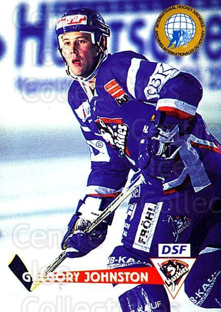 1996-97 German DEL #229 Greg Johnston<br/>5 In Stock - $2.00 each - <a href=https://centericecollectibles.foxycart.com/cart?name=1996-97%20German%20DEL%20%23229%20Greg%20Johnston...&quantity_max=5&price=$2.00&code=49081 class=foxycart> Buy it now! </a>