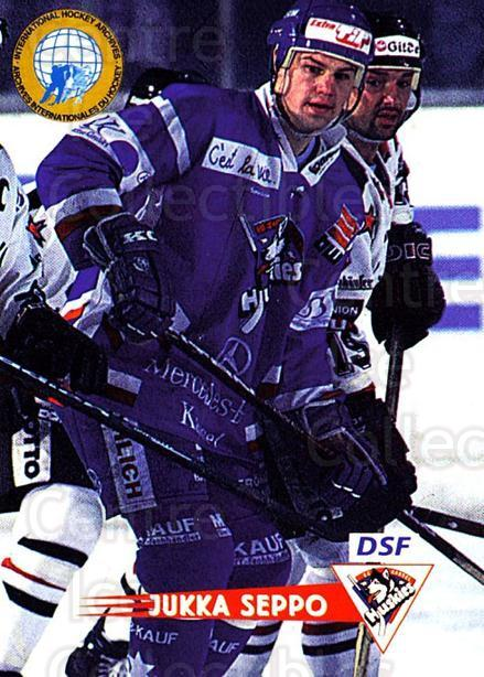 1996-97 German DEL #239 Jukka Seppo<br/>3 In Stock - $2.00 each - <a href=https://centericecollectibles.foxycart.com/cart?name=1996-97%20German%20DEL%20%23239%20Jukka%20Seppo...&quantity_max=3&price=$2.00&code=49091 class=foxycart> Buy it now! </a>