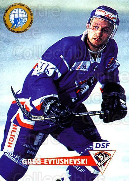 1996-97 German DEL #240 Greg Evtushevski<br/>6 In Stock - $2.00 each - <a href=https://centericecollectibles.foxycart.com/cart?name=1996-97%20German%20DEL%20%23240%20Greg%20Evtushevsk...&quantity_max=6&price=$2.00&code=49093 class=foxycart> Buy it now! </a>